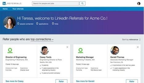 Cooptation : LinkedIn arrive sur le marché avec « Referrals »   Directeur des Ressources Humaines   Scoop.it