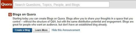 One can now blog on Quora | Content Marketing & Content Curation Tools For Brands | Scoop.it