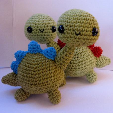 AMIGURUMI DINOSAUR PATTERN FREE Knitting PATTERNS