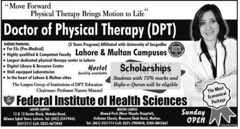Doctor of Physical Therapy Admissions in Federal Institute | Educacion Holistica | Scoop.it