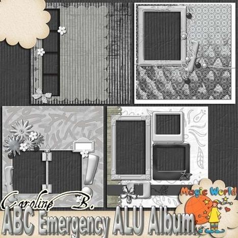 ABC Emergency Kit - Alu 12x12 QPs Album - $3.49 : Caroline B., My Magic World of Digital Design | SCRAPBOOKING | Scoop.it