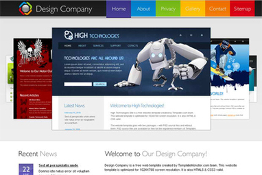 50 Fresh Free HTML5 and CSS3 Website Templates | Code | Scoop.it