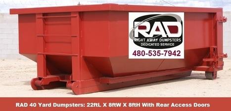 Right Away Disposal Pinal County AZ Roll-Off Dumpster Rentals | Dumpster Rentals | Scoop.it
