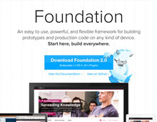 Foundation: Rapid Prototyping and Building Framework from ZURB | Les Outils - Inspiration | Scoop.it