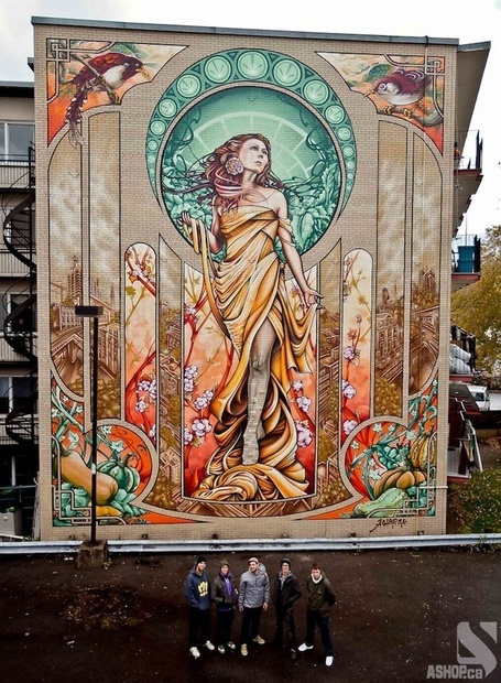Massive Art Nouveau-Inspired Mural in Montreal - My Modern ...