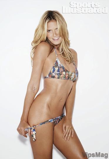 Heidi Klum wearing sexy bikini, swimwear for SI Swimsuit issue 2014 photoshoot   VipsMag   Sexy Pics   Scoop.it