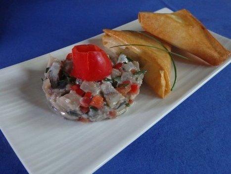 Sardines fraiches en tartare et samosa de Monique   C'est bon, ça se mange, ça se boit   Scoop.it
