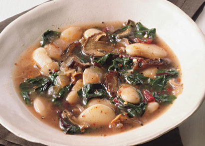 Lima Beans with Wild Mushrooms and Chard - Bon Appétit | 4-Hour Body Bean Cookbook | Scoop.it