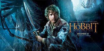 Film Thrasher: THE NEWS BUNDLE: Bilbo Is On Guard From Spiders In All-New Banner Art for 'The Hobbit: The Desolation of Smaug' | 'The Hobbit' Film | Scoop.it