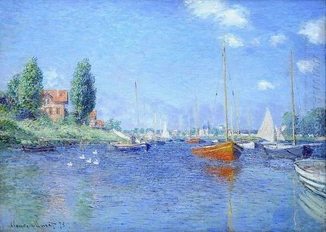 Oil painting reproduction: Claude Oscar Monet Red Boats Argenteuil 1875 Oil On Canvas 1875 - Artisoo.com | Creative Oil on Canvas | Scoop.it