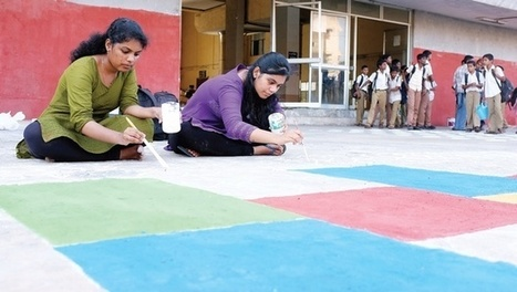Anna Varsity Students Use Art to Clean Up Local MRTS Station - The New Indian Express | QR Code Art | Scoop.it