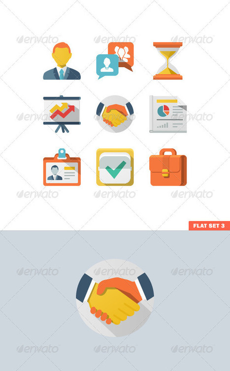 Business Flat Icon Set (Icons) | GFX Database | GFX Download | Scoop.it