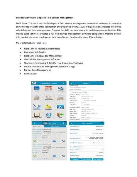 Successful Software Dispatch Field Service Management | Traking Software | Scoop.it