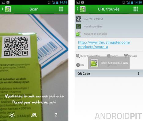 Les meilleures applications code QR sur Android - AndroidPIT | tablette Android usages pédagogiques | Scoop.it