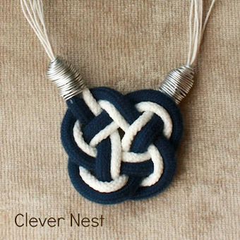 Clever Nest: Nautical Knot Necklace | DIY - jewellery  =  HTM - bijou | Scoop.it