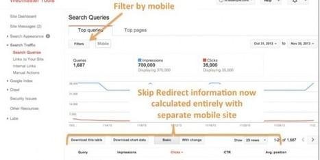Google Webmaster Tools : importante mise à jour en matière de site mobile | Mobile Web Applications | Scoop.it