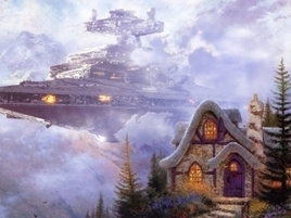 Star Wars Imperial Forces Invade Thomas Kinkade Paintings | Fun and beautiful | Scoop.it