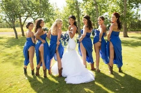 The Latest Trend For Bridesmaids Is To Pull Up Their Dresses And Show Off Their Butts (Photos) | Aucoindujour | Scoop.it