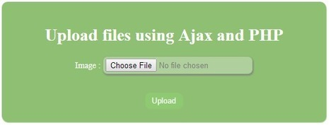 PHP, MySQL, JS, jQuery, Ajax, .htaccess,robots.txt,phponwebsites: Ajax upload file or image in PHP using jQuery | phponwebsites | Scoop.it