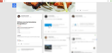 Comment intégrer un formulaire Google Drive à un post Google Plus ? | Time to Learn | Scoop.it