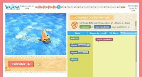Les enfants peuvent apprendre à coder avec Vaiana, la nouvelle héroïne de Disney | Time to Learn | Scoop.it