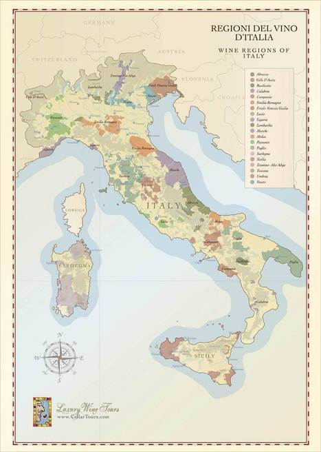 Map of Italian Wine Regions | Wine and the City - www.wineandthecity.fr | Scoop.it