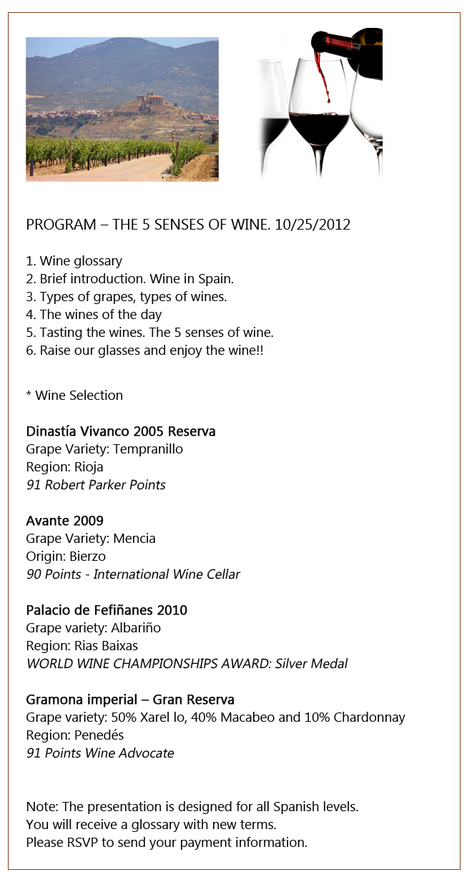 The 5 senses of wine (a tasting in Spanish) | Learn Spanish | Scoop.it