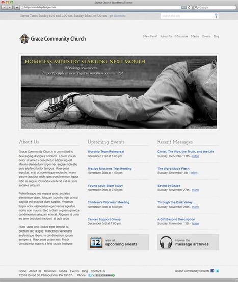 Stylish Church WordPress Theme   Vandelay Design Blog   Web Design from Brand Graphics   Scoop.it