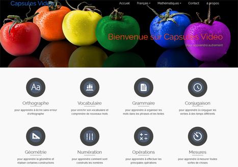 CapsulesVidéos Orthographe Vocabulaire Grammaire Conjugaison Geometrie Numeration Operations Mesures | MONA-BANK | Scoop.it