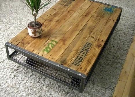 Table basse en palette et métal | Palettes | Scoop.it