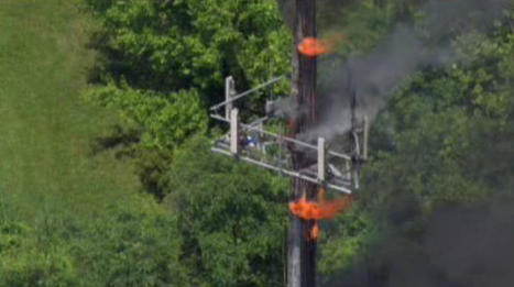 Cell Phone Tower Fire Started 80 Feet in Air | Welding Innovations & Manufacturing | Scoop.it