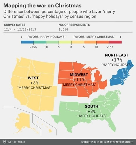 Where To Say 'Merry Christmas' vs. 'Happy Holidays' | Year 9 Geography | Scoop.it