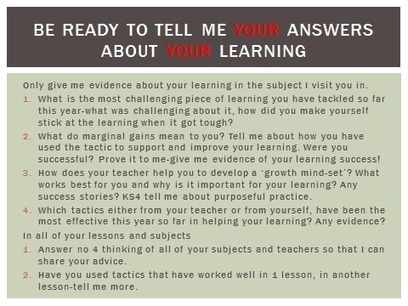2014 Winter Learning Walk-what our students told us | Marking and Feedback | Scoop.it