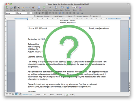 How to Write a Cover Letter   Aranguren & Laflin: CV in english, cover letters, interviews   Scoop.it