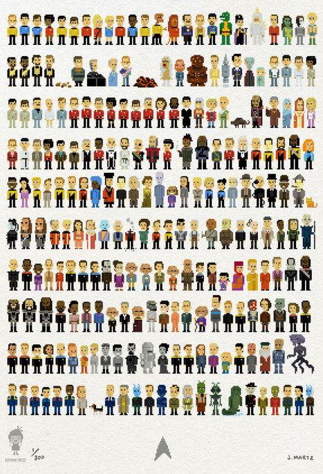 235 Star Trek characters in pixel form, all on one poster | meme, lol & existensialism | Scoop.it
