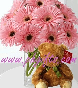 One dozen gerberas and 9-10 inches russ-hairy light brown teddy bear. Send these lovely gerberas and cuddly teddy bear to your girlfriend to express how much you love her. | MOTHER'S DAY GIFT IDEAS | Scoop.it