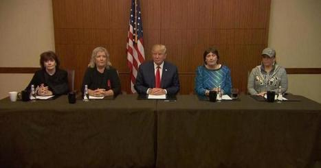 Donald Trump appears with women who have accused Bill Clinton of sexual advances | Global politics | Scoop.it
