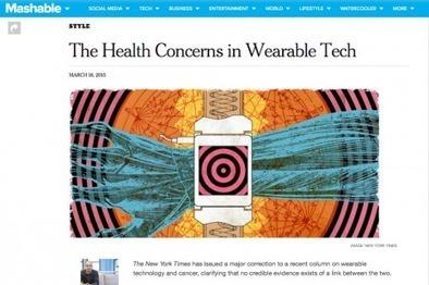 Objets connectés et cancer: le New York Times fait marche arrière - Rue89 | Chronique d'un pays où il ne se passe rien... ou presque ! | Scoop.it