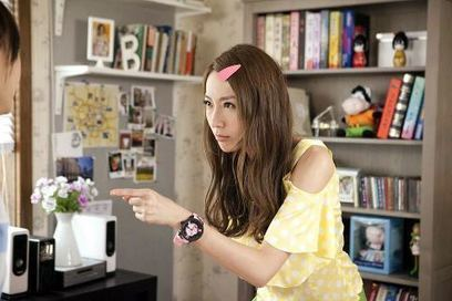 """Taiwanese renowned actress & model """"隋唐"""" wearing a Tendence Pink Camouflage in he...   Tendence Watches   Scoop.it"""