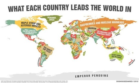 What Each Country Leads The World In | World Geography | Scoop.it