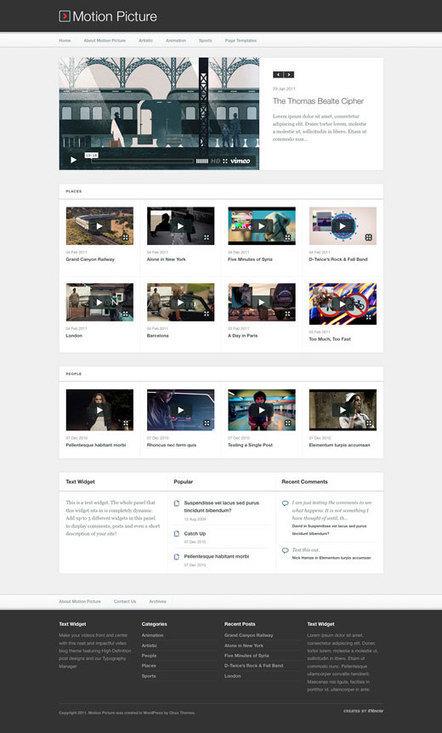 20+ Best Video WordPress Themes 2013 - aThemes | Best WordPress Themes | Scoop.it