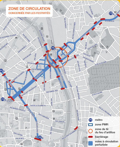 Plan de non Circulation à Toulouse du 12 au 15 juillet | Toulouse La Ville Rose | Scoop.it