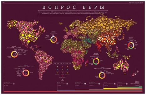 Infographics: Religions world map | Maps for humans | Map@Print | Scoop.it