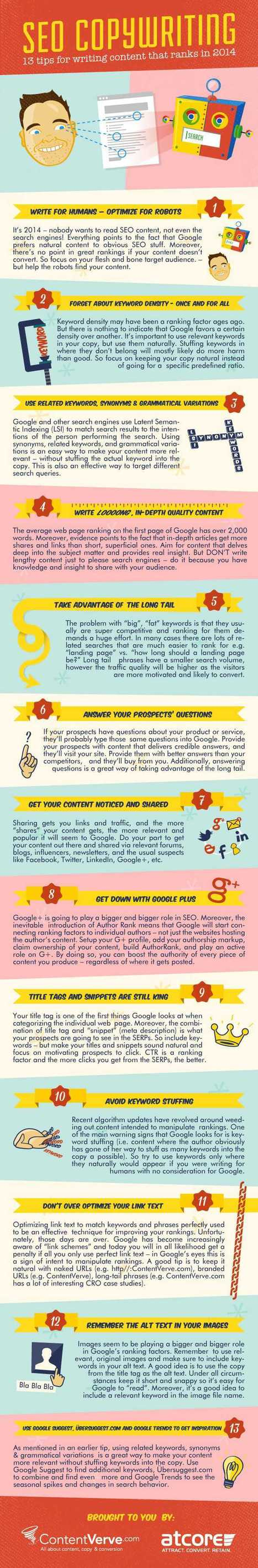 13 SEO Copywriting tips [Infographic] - Smart Insights Digital Marketing Advice | social: who, how, where to market | Scoop.it