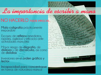 ¿Por qué los niños y niñas deberían escribir (mayoritariamente) a mano? | Educación y TIC | Scoop.it
