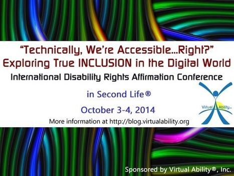 Virtual Ability: IDRA Conference | 3D Virtual-Real Worlds: Ed Tech | Scoop.it