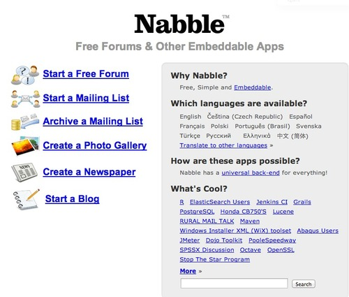 Nabble – Free forum & other embeddable apps