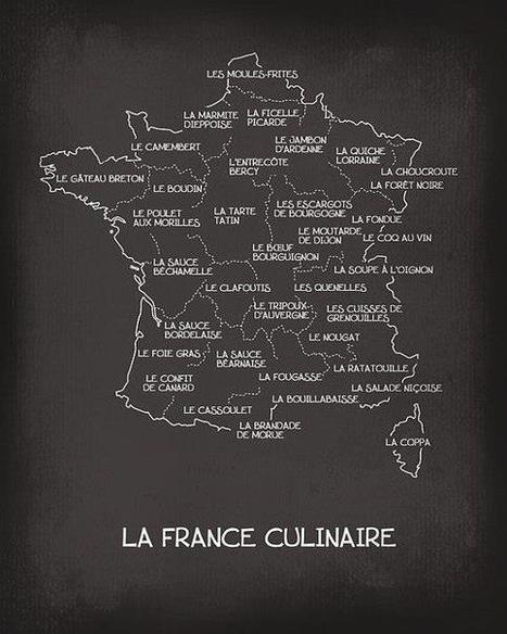 Image utile : carte de la France culinaire | Remue-méninges FLE | Scoop.it