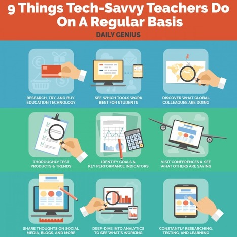 9 Things Tech-Savvy Teachers Do On A Regular Basis Infographic | ICT | eSkills | Communication design | Scoop.it