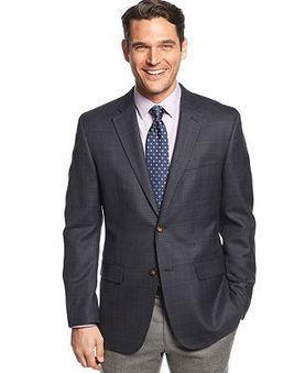 Tasso Elba Sport Coat Navy Tonal Plaid - Blazers & Sport Coats - Men - Macy's | Gentleman | Scoop.it